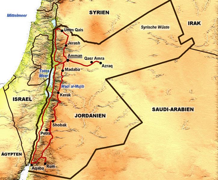 Landkarten - Jordanien